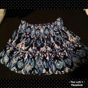 Blue & Black Ruffled Justice Skirt w shorts